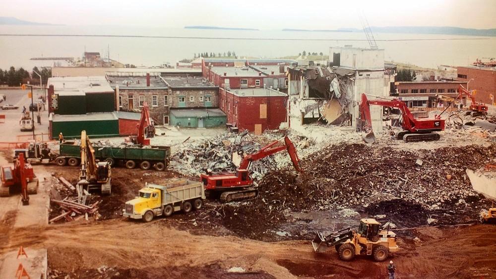 Keskus Mall Demolition 1999